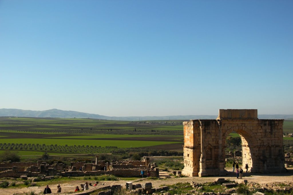 on-the-road-in-Marocco-volubilis