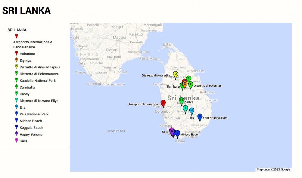 Maps 10 day in Sri Lanka