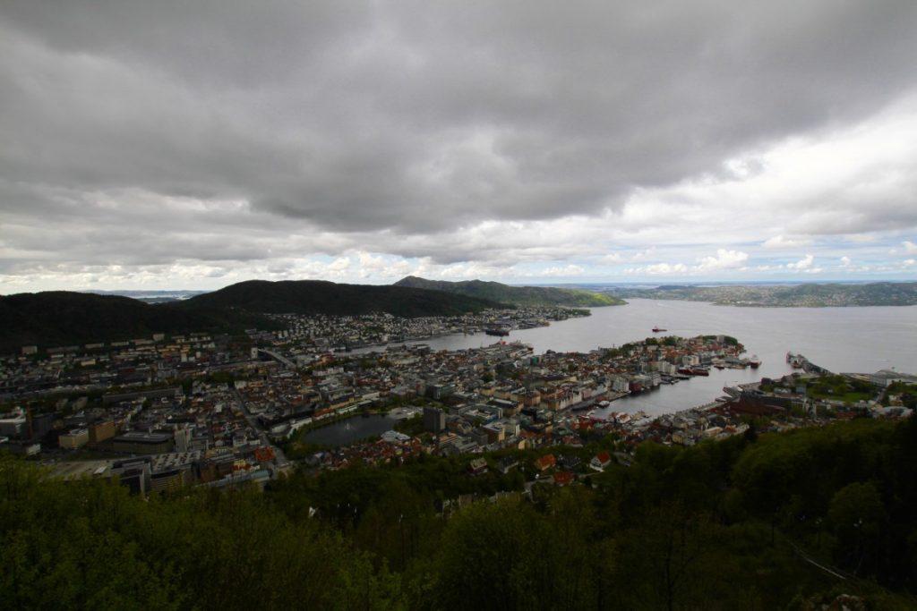 Itinerario-Norvegia-5-giorni-bergen-dall'alto