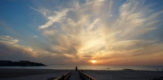 Tramonto a Tarifa la città del dite e del wind surf